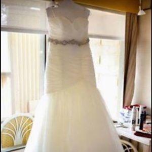 Mori Lee 5108 Wedding dress with jewel belt